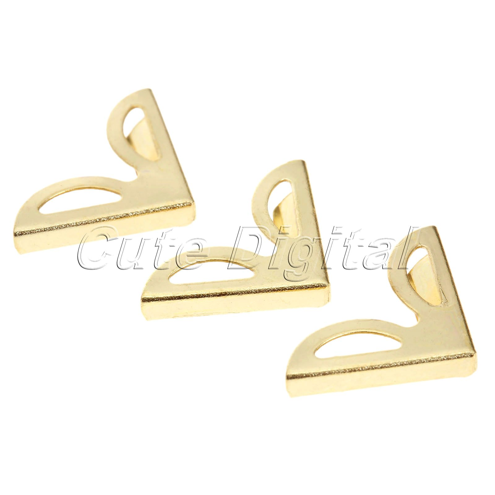 100pcs 16x16mm Golden Decorative Metal Corner Brackets For Books ...