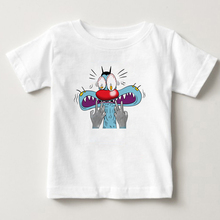 Childrens summer T-shirt boys and girls breathing exercises childrens cotton print Oggy the Cockroaches