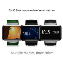 DM98 Watch Smart GPS WIFI BT 4.0 SIM 3G Phone Watch Man Camera for Android Big Battery 512MB RAM 4GB ROM 2.2 Inch Color Screen