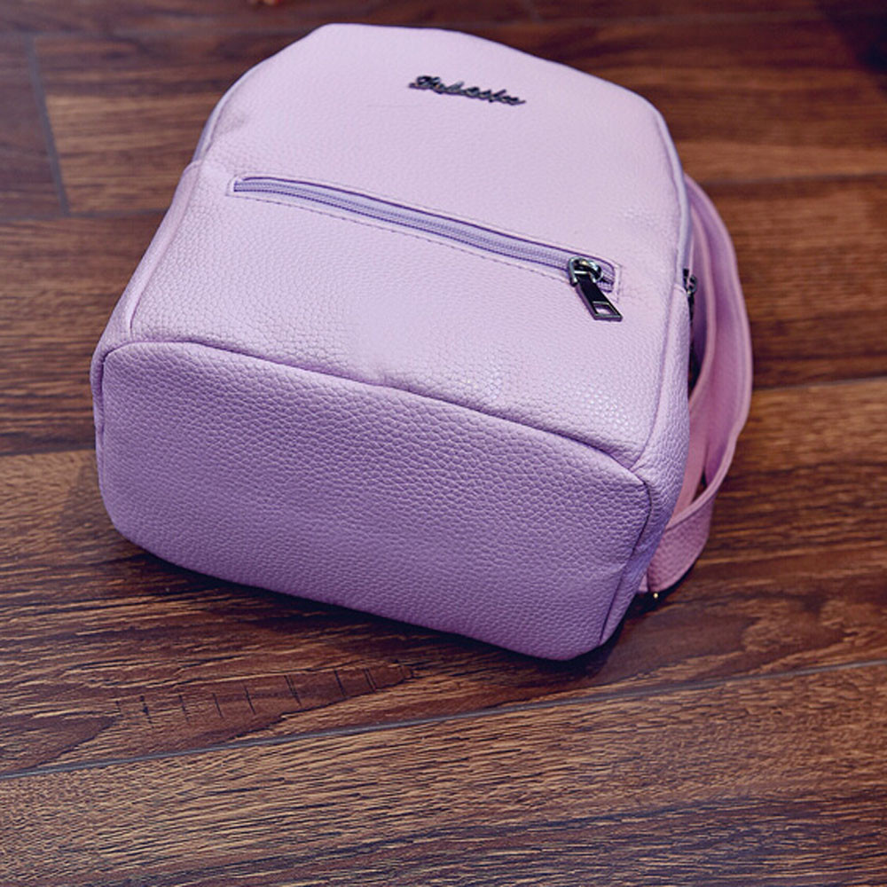 Aelicy Preppy Style Women Backpack Letter Print Mini PU Leather Backpack Schoolbags for Teenage Girls Female Backpack Rucksack