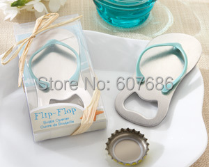 "Wholesale 50 Pieces ""Pop the Top"" Flip-Flop Bottle Opener Wedding Favor Keepsake Gift for Guests Party Supplies Free Shipping"