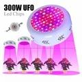 300 Вт UF0 LED Grow Lights панель полный спектр комнатных растений лампа цветущие растения Гидропоника система садового покрытия Регулируемая 85 в-265 ...