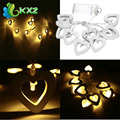 10LED Battery Operated Heart String Fairy Light for Xmas Decoration