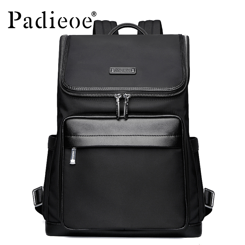 Padieoe 2018 High Quality Korean Style Nylon School Backpack Men Fashion School Bags For Teenage Casual Men's Backpacks for Male yeso brand fashion korean style casual korean nylon men laptop backpack school teenager stylish backpacks boys girls travel bags