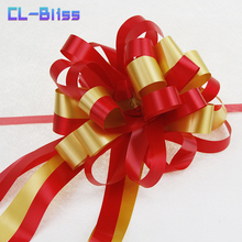 Baby Shower 10pcs Pull Bow Ribbon for Gift Packing Romantic Wedding Birthday Party Decor Home Car