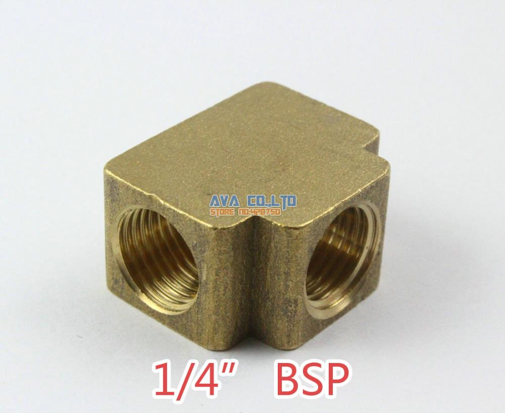 2 Pieces Brass 1/4 BSP 3 way Fitting Fuel Air Gas Water Hose Connector Coupler 4 pcs pneumatic air hose fitting 10mm brass straight barb connector adapter
