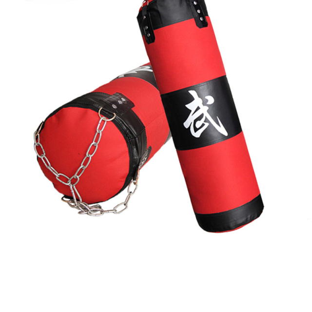 120cm Training Fitness MMA Boxing Punching Bag Empty Sport Kick Sandbag Muay Thai Boxer Training Set Wraps & Hook &a pair Gloves
