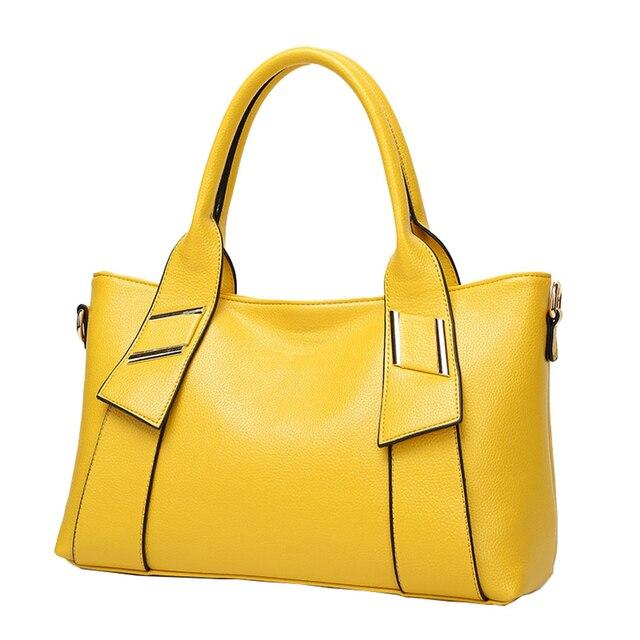 Women's Zipper Bags Totes Handbag 2016 Fashion Yellow Crossbody Bag For Ladies High-End Hardware KSB070
