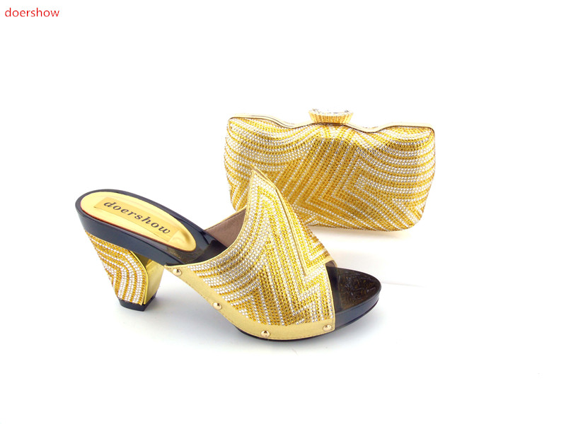 doershow High quality Nigeria gold color wedding shoes Italian shoes and bags set to match free shipping by DHL HJN1-11 banking reforms and banks stability in nigeria 1986 2009