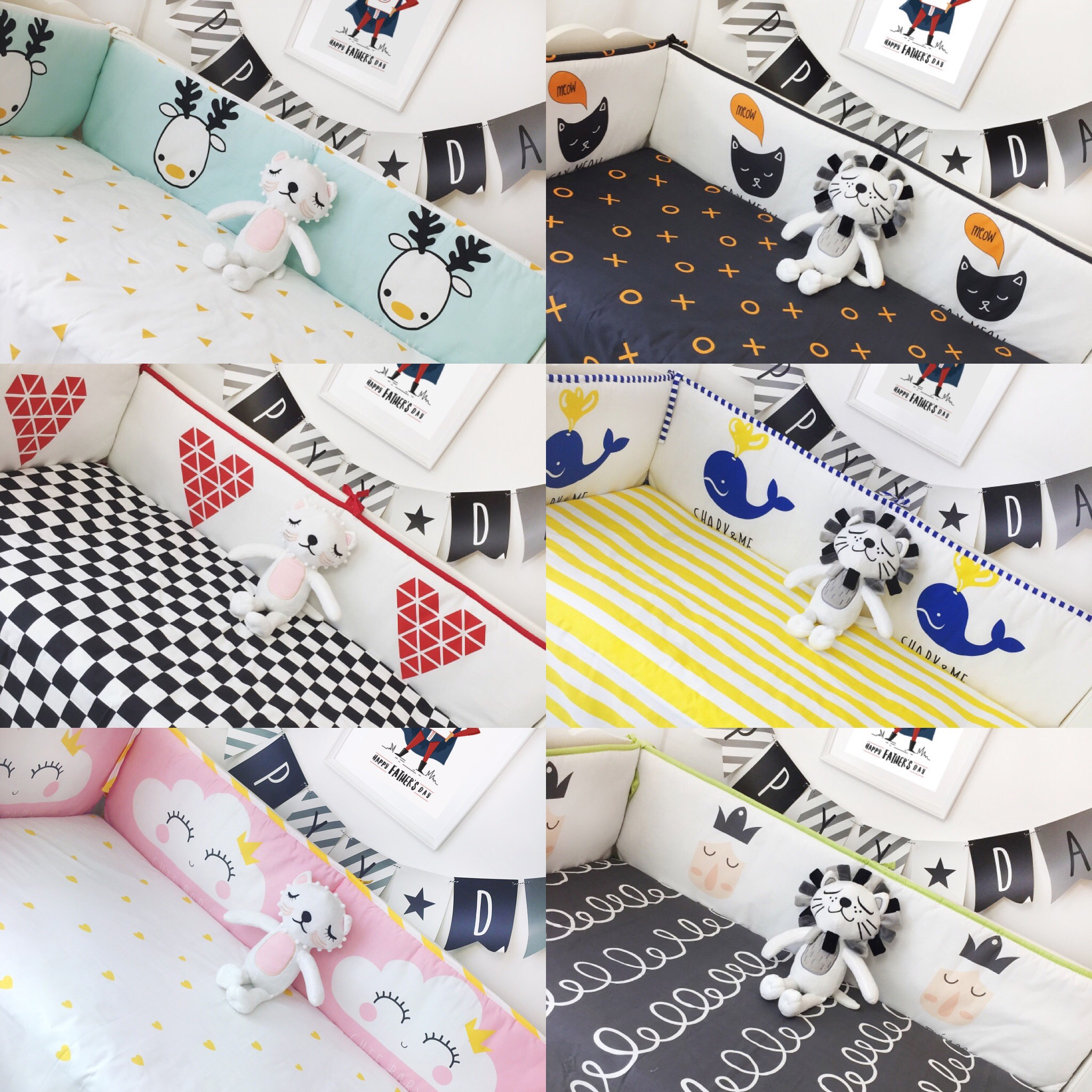 4 bumpers +1 sheet , fashion Crib Bumpers Cotton Baby Bed Bumper Baby Cot Sets Bed Around Protector Pink Clouds Deer whale crown sweet jojo designs elizabeth fitted crib sheet