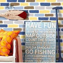 0.53*10/Roll Colorful Brick Wallpaper TV Sofa Backdrop Mediterranean Wall Paper For Bedroom Living Room Home Decoration
