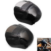 Motorcycle Front Headlight Fairing Windshield Wind Deflector For Harley Dyna Low Rider Super Wide Glide 1986 17 XL 1200 883 Iron