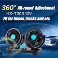 360 Grados Ventiladores Ventiladores De Refrigeración Del Ventilador Del Coche 12 V Portátil Doble tormentas