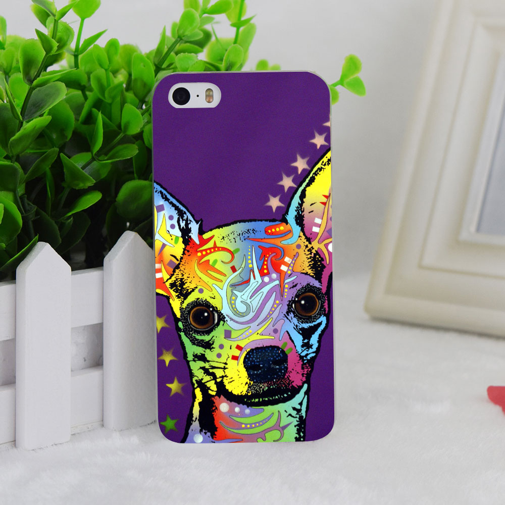 A1231 Chihuahua Transparent Hard Thin Case Cover For Apple iPhone 4 4S 5 5S SE 5C 6 6S 6Plus 6s Plus