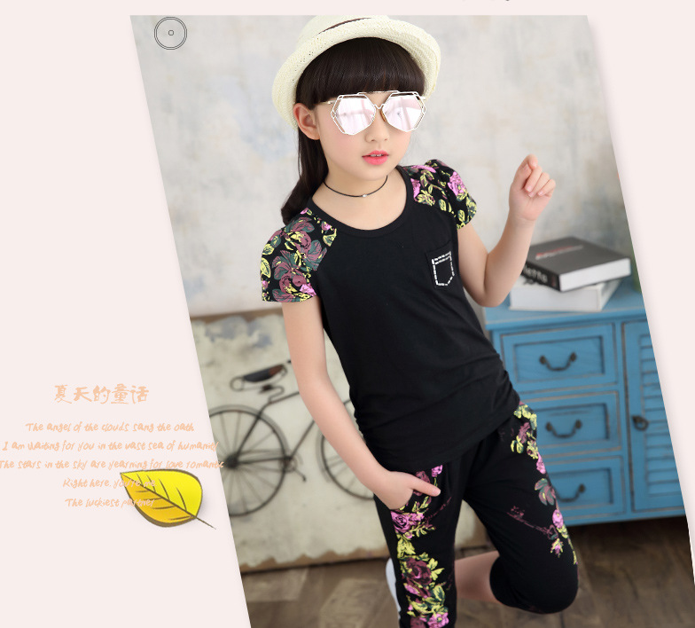 Girls Clothes Outfits 2018 Summer Boutique Kids Clothing Set Arrow T Shirt Tops+Pants 2pcs printed Toddler Girl Clothing Sets girls in pants third summer