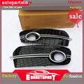 Q5 RSQ5 противотуманная фара решетка черная ABS передняя решетка для автомобиля для Audi Q5 SQ5 S-line RSQ5 передний бампер 2012-2015