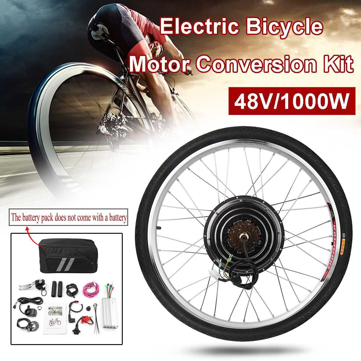 1000 W 48 V moteur roue électrique vélo Kit électrique vélo Conversion Kit 26