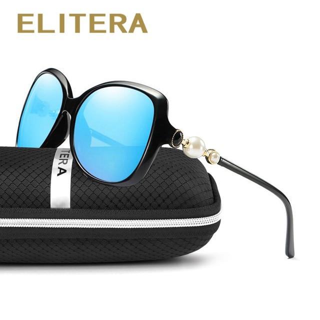 ba721f85a127 ELITERA Fashion Polarized Sunglasses Women Luxury Brand Vintage Sun glasses  Female Butterfly Shades Big Frame Eyewear UV400