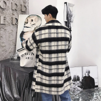 2018 New British style in the long style men's windbreaker Korean version of the overcoat M XL