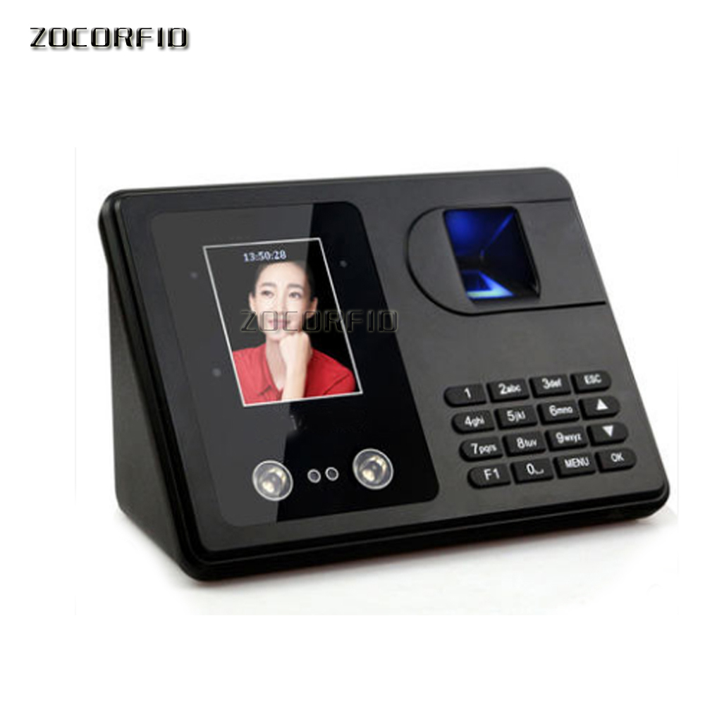 Face&Fingerprint Time Attendance System Biometric Employee Clock Face attendance U-disk download data