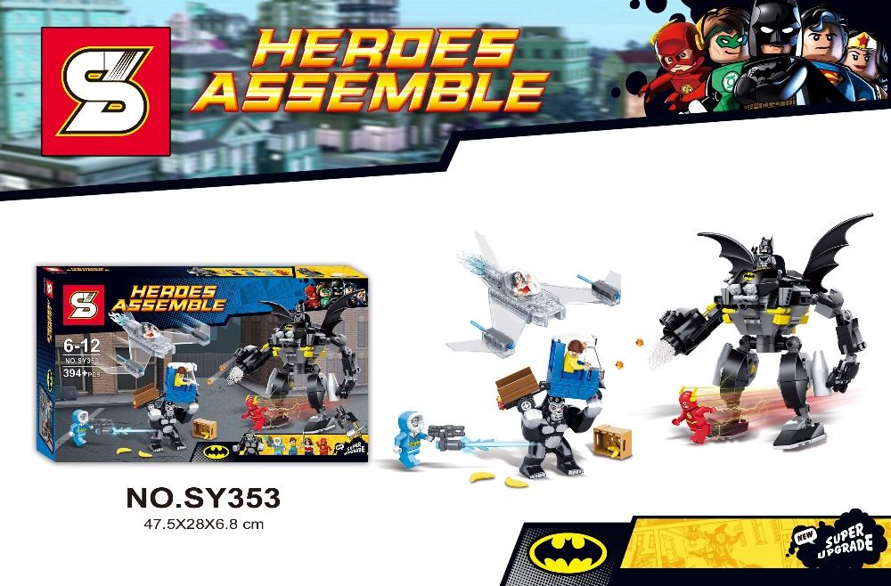 394pcs Heroes Assemble Batman/GORILLA GROOD/ Robot Action Figures  Minifigures Building Blocks Toys SY353 Compatible With Lego In Model  Building Kits From ...