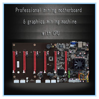 100% new motherboard Professional mining motherboard 6 graphics mining machine with CPU