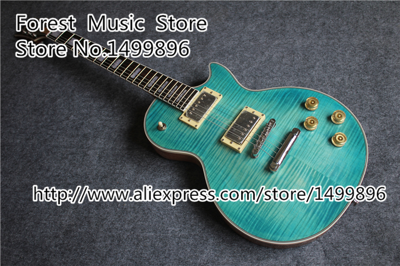 2015 New Arrival Tiger Flame Finish LP Supreme Guitars Electric & Left Handed Custom Available new arrival chinese left handed 6 string electric bass guitars with metallic blue finish for sale