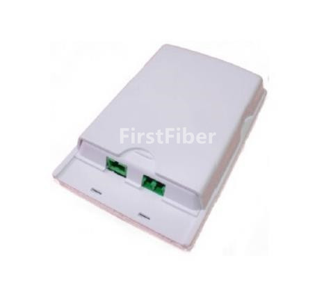 Image 4 - FirstFiber ODN FTTH 2 cores fiber Termination Box 2 ports 2 channels fiber socket Splitter Box indoor outdoor fiber Optical-in Fiber Optic Equipments from Cellphones & Telecommunications