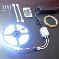 SMD 5050 RGB LED Strip Light Sync To Music 5M 300LED Waterproof DC 12V IR Remote Control 24Key Flexible TV Light Strip Lamps
