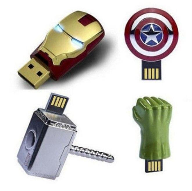 INCIPIENT Real Capacity USB Flash Drive 128GB Pen Drive Pendrive Marvel Super Hero Style 8GB 16GB 32GB 64GB usb 2.0 Memory Stick creative slr camera style usb 2 0 flash drive black 32gb
