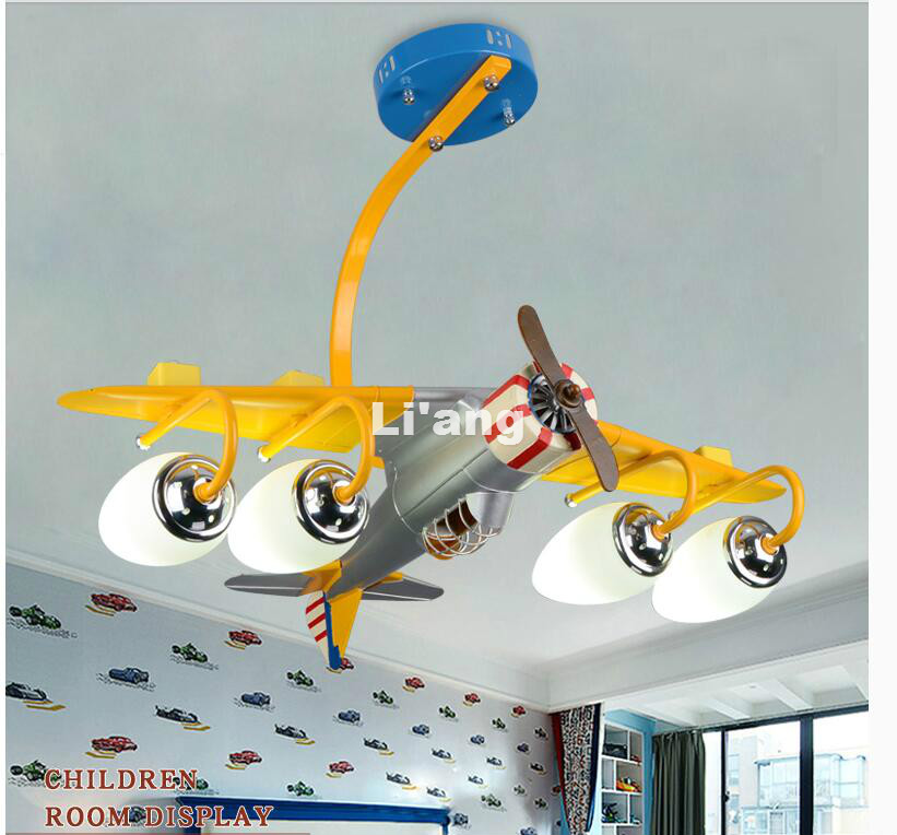 Home Decorative Ceiling Lights Plane Design Eye protective LED E27 AC Ceiling Lamp Remote Control Modern Children Ceilling Light