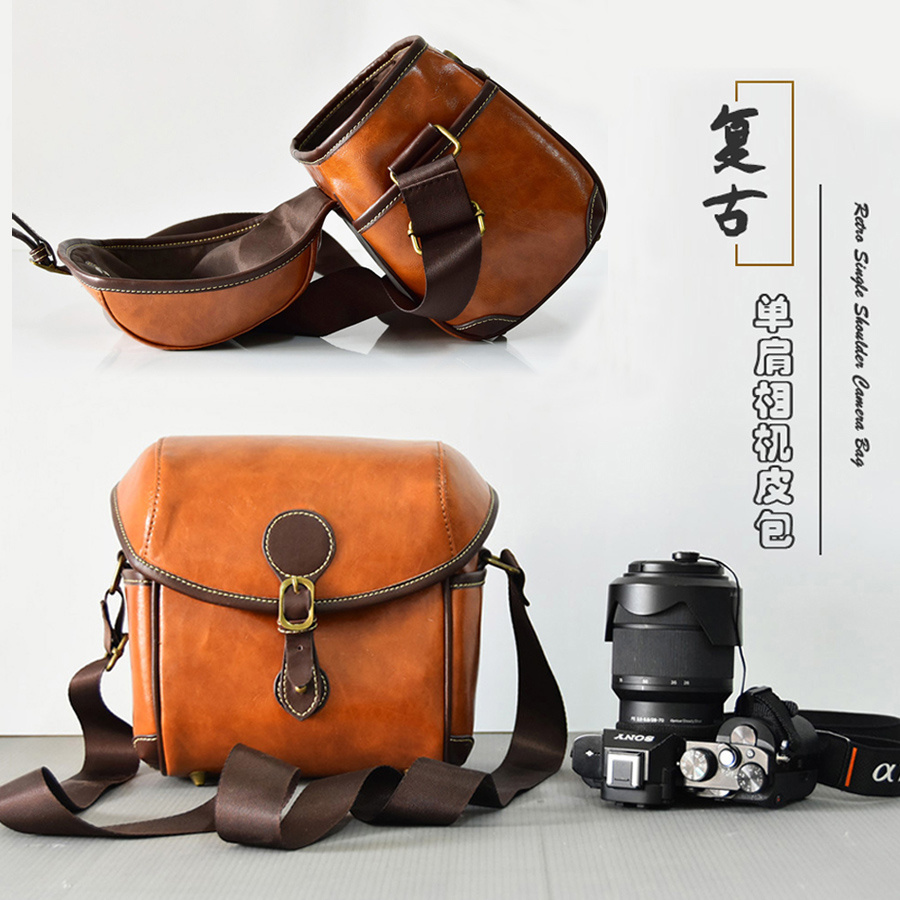 PU Leather Camera Bag case For <font><b>Canon</b></font> EOS M100 <font><b>200D</b></font> 250D 1300D 1100D 1200D 3000D 450D 550D T5 T5i SX530 SX540 Kiss X9 X10 SL3 SL2 image