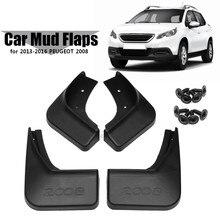 for Peugeot 2008 Car Mud Flaps Splash Guards Auto Mudguards Fender  2013 2014 2015 2016 Mudflaps Accessories