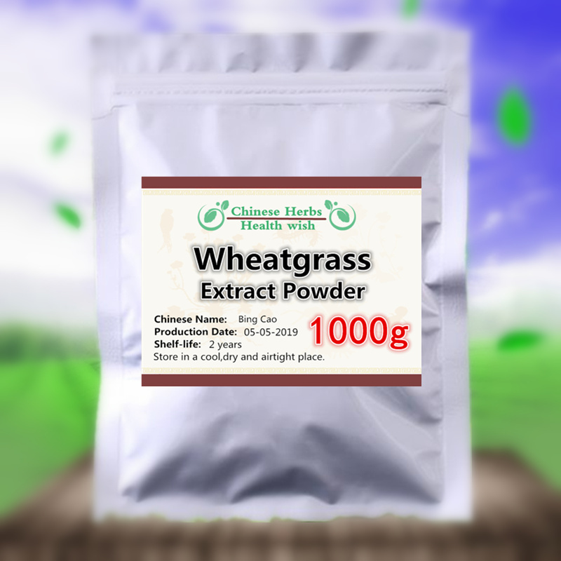 1000g,Better Detox,Pure Wheatgrass Extract Powder,bing Cao,high Quality Healthy Body Building,Keep Younger And Healthier