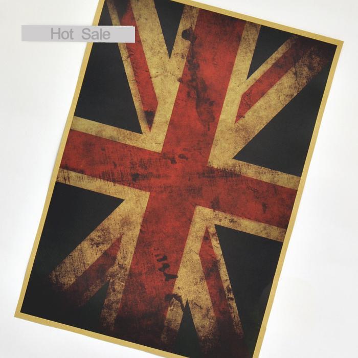 envo gratis inglaterra reino unido de la bandera nacional vintage kraft cartel retro bar cafe diseo