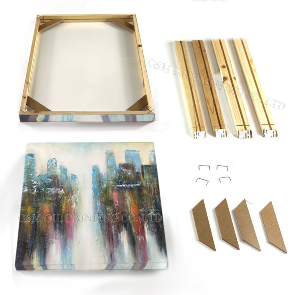 nouveaut s de bonne qualit facile cadre en bois tendu pour peinture l 39 huile et affiche diy. Black Bedroom Furniture Sets. Home Design Ideas