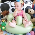 Baby inflatable sofa baby thickening multifunctional chair dining chair portable bath stool seat cushion