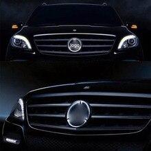 SITAILE автомобиль светодиодный Передняя решетка логотип свет для Mercedes Benz 18 см/7,09 дюйма 19 см/7,48 дюймовый белый свет
