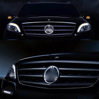 SITAILE Car LED Front Grille Logo Light for Mercedes Benz 18cm/7.09inch 19cm/7.48inch white light