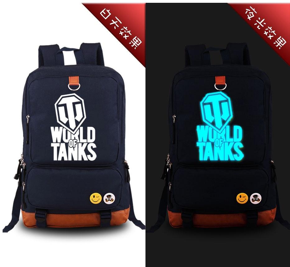 все цены на  High Quality New 2017 Game WORLD OF TANKS Luminous Military Printing Backpack Canvas Men's backpacks school bags for teenagers  онлайн