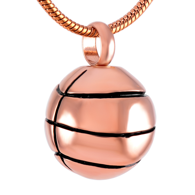 Basketball Urn Necklace