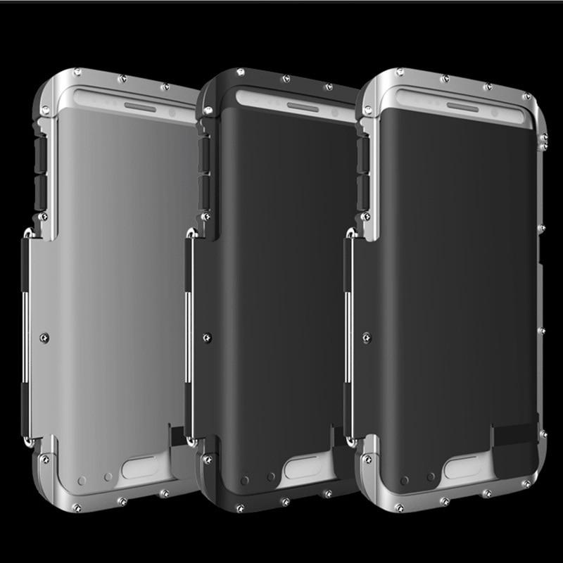 S7/s7 edge case cubierta del tirón del metal de hierro hombres fundas capa prote