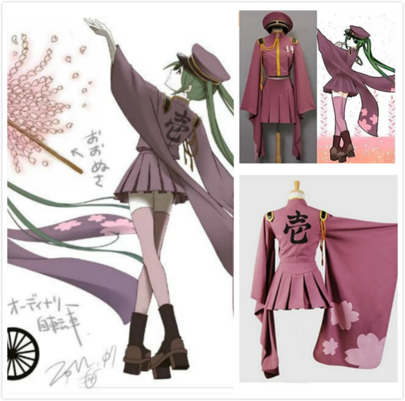 Anime Hatsune Miku Senbonzakura Kimono Cosplay Costumes Uniform Dress Full Set Halloween Party Clothing Costume