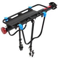 Aluminum Alloy Mountain Bike Bicycle Rear Rack Adjustable Bike Cargo Rack Bicycle Pannier Luggage Carrier Rack