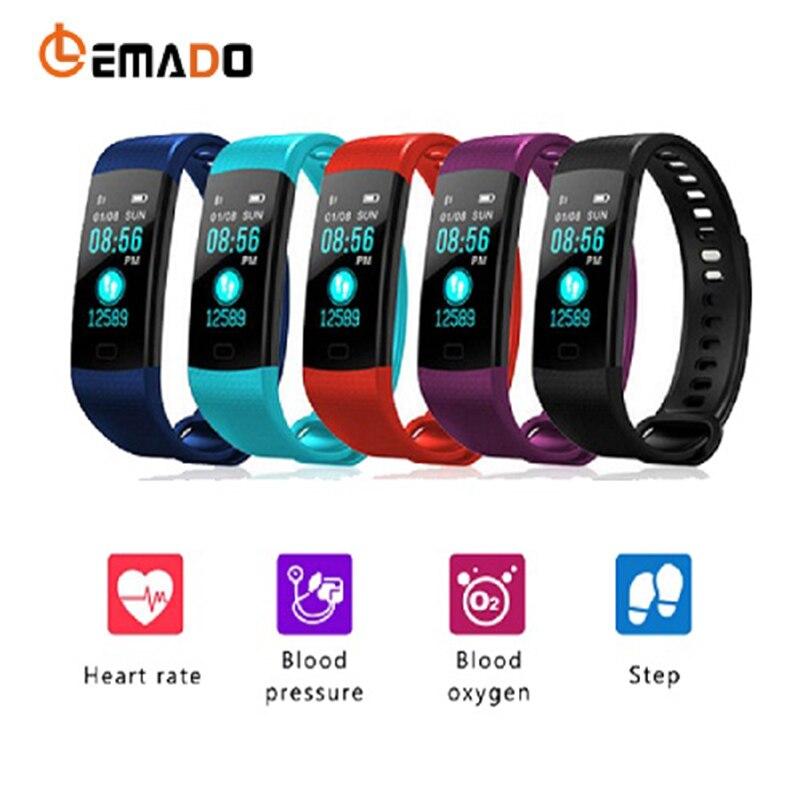 Lemado Y5 Smart Fitness Bracelet Tracker Blood Pressure Oxygen Smart Sport Watch Waterproof Heart Rate Monitor Smart Wristband