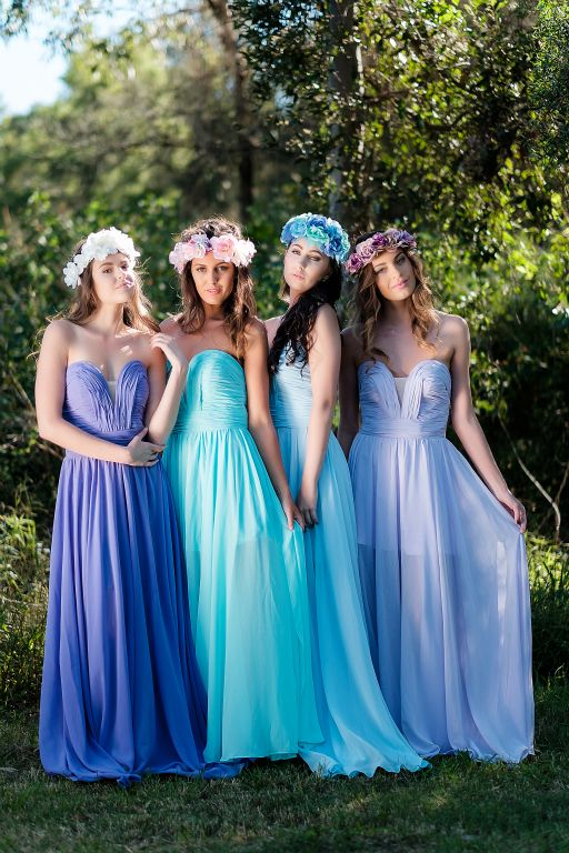 Levander Rainbow Colors Sweetheart New Fashion A Line Chiffon Long Bridesmaid Dresses For Wedding Party 2016 In From Weddings Events On