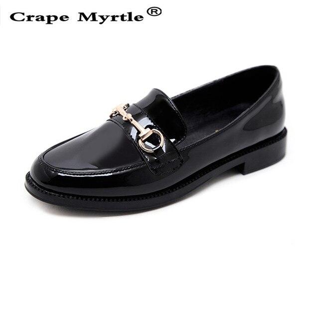 Ronda Marca De Crape Toe Cuero Casual Zapatos Patrón Mujer Myrtle 8HHU5