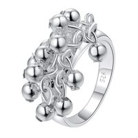 New Listing 925 Silver Rings Fashion Jewelry Free Shipping Lovely Grape Ring