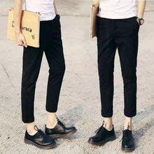 Fall pedicure trousers men's Korean version of youth fashion nine pants British