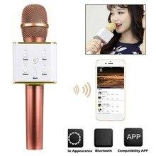 Беспроводной бренд Q7 bluetooth-микрофон для караоке профессиональный плеер динамик с чехлом для Iphone для Android